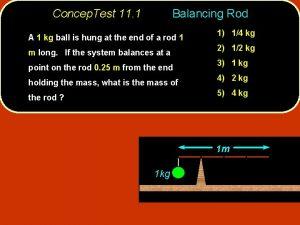 Concep Test 11 1 Balancing Rod A 1