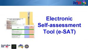 RCTQ Electronic Selfassessment Tool eSAT RCTQ What is