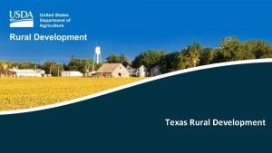 Texas Rural Development Rural Development Programs MultiFamily Housing