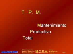 T P M Mantenimiento Productivo Total Mtodos Organizacin