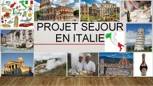 PROJET SJOUR EN ITALIE LE DEVELOPPEMENT DURABLE EN