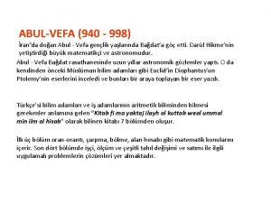ABULVEFA 940 998 randa doan Abul Vefa genlik