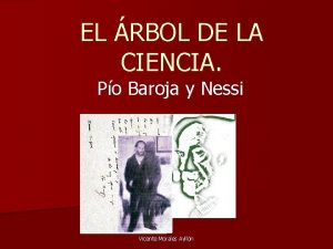 EL RBOL DE LA CIENCIA Po Baroja y