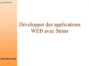 Dvelopper des applications WEB avec Struts Applications Struts