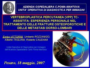 AZIENDA OSPEDALIERA C POMAMANTOVA UNITA OPERATIVA DI DIAGNOSTICA
