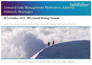 DemandSide Management Methods to Address Network Shortages 28