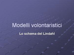 Modelli volontaristici Lo schema del Lindahl Lo schema