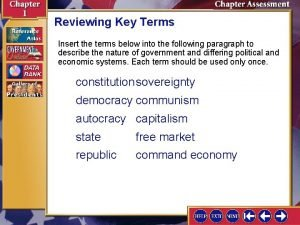 Reviewing Key Terms Insert the terms below into