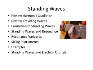 Standing Waves Review Harmonic Oscillator Review Traveling Waves