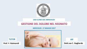CASI CLINICI DEL MERCOLEDI MERCOLED 17 MAGGIO 2017