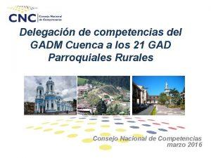 Delegacin de competencias del GADM Cuenca a los