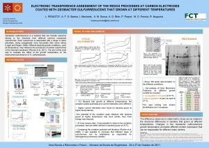 ELECTRONIC TRANSFERENCE ASSESSMENT OF THE REDOX PROCESSES AT