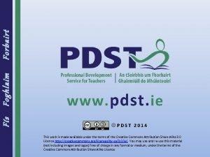 Forbairt Foghlaim Fs www pdst ie PDST 2014