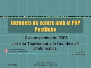 Intranets de centre amb el PHP Post Nuke