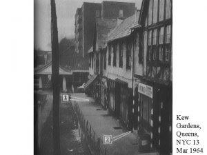 Kew Gardens Queens NYC 13 Mar 1964 Winston