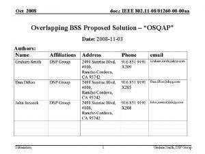 Oct 2008 doc IEEE 802 11 0801260 00