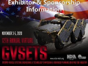 Exhibitor Sponsorship Information EXHIBITOR PACKAGES Tier One 1500
