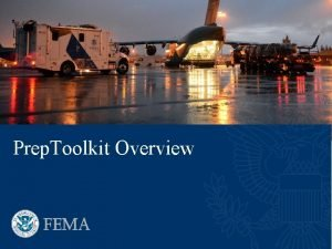 Prep Toolkit Overview Overview Prep Toolkit is designed