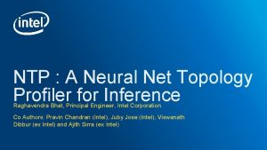 NTP A Neural Net Topology Profiler for Inference