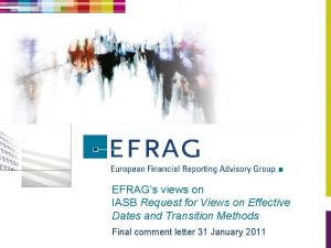 EFRAGs views on IASB Request for Views on