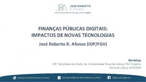 Especialista em finanas pblicas FINANAS PBLICAS DIGITAIS IMPACTOS