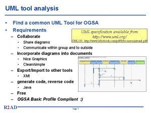 UML tool analysis Find a common UML Tool