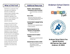 What is Child Find Additional Resources Child Find