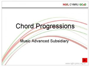NGf L CYMRU GCa D Chord Progressions Music