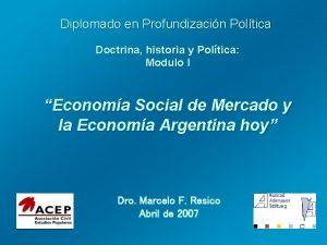 Diplomado en Profundizacin Poltica Doctrina historia y Poltica