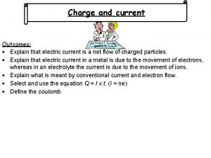 Charge and current Outcomes Explain that electric current