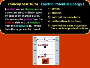 Concep Test 16 1 a Electric Potential Energy