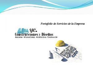 Portafolio de Servicios de la Empresa Portafolio de