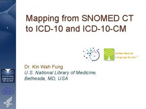 Mapping from SNOMED CT to ICD10 and ICD10