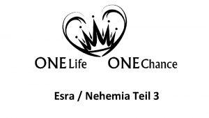 Lukas Teil 1 Esra Nehemia Teil 3 Esra