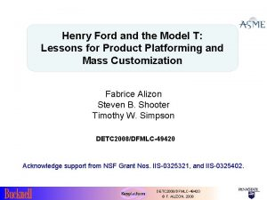 Henry Ford and the Model T Lessons for
