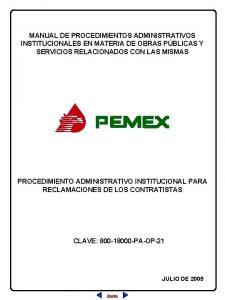 MANUAL DE PROCEDIMIENTOS ADMINISTRATIVOS INSTITUCIONALES EN MATERIA DE