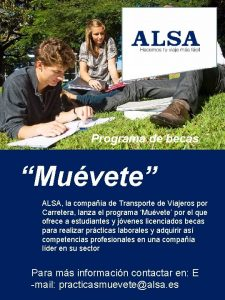 Programa de becas Muvete ALSA la compaa de