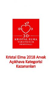 Kristal Elma 2018 Arvak Akhava Kategorisi Kazananlar POSTER