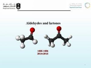 Aldehydes and ketones 1435 1436 2014 2015 1