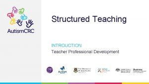Structured Teaching INTROUCTION Teacher Professional Development Teacher Professional