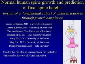 Normal human spine growth and prediction of final