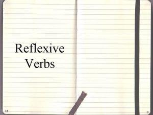 Reflexive Verbs A reflexive verb is a verb