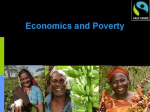 Economics and Poverty Commodity Prices in Real Terms