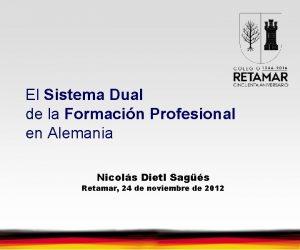 El Sistema Dual de la Formacin Profesional en
