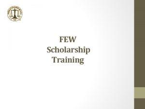 FEW Scholarship Training Federally Employed Women FEW National