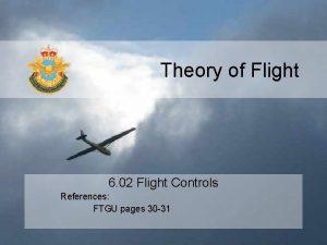 Theory of Flight 6 02 Flight Controls References