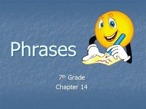 Phrases 7 th Grade Chapter 14 Prepositional Phrases