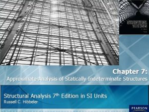 Chapter 7 Approximate Analysis of Statically Indeterminate Structures