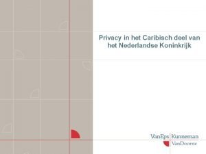 Privacy in het Caribisch deel van het Nederlandse