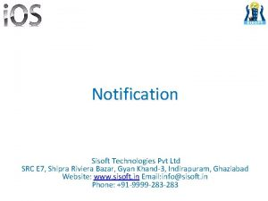 Notification Sisoft Technologies Pvt Ltd SRC E 7